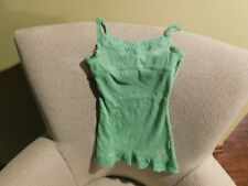GIRLS JUSTICE GREEN CAMI WITH LACE • SIZE 8