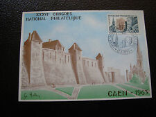 FRANCE - carte 1/6/1963 (congres caen) (cy43) french (dos 2eme choix)