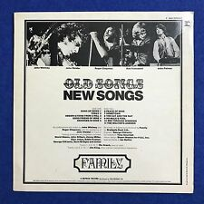 FAMILY Old Songs New Songs 1971 UK vinyl LP EXCELLENT CONDITION