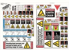 Machinery Sticker Sets For Rough Terrain Crane 50 Assorted Decals MS014