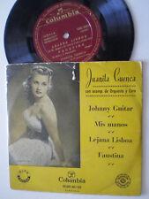 """JUANITA CUENCA Johnny Guitar +3 SPAIN EP VINYL 7"""" COLUMBIA 1950s"""