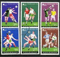 RUMANIA / ROMANIA / ROUMANIE  año 1974 yvert nr.2846/51 usada futbol C.M. Munich
