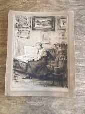 Antique Etching Unknown Artist