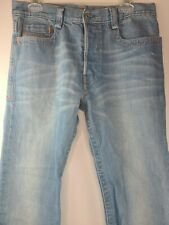 Mens 32 X 34 Diesel Industry Button Fly Jeans Denim RN 93243 Made in Italy