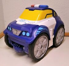 Transformers Rescue Bots Chase Police Car Flip Pullback Changer 2013 Playskool