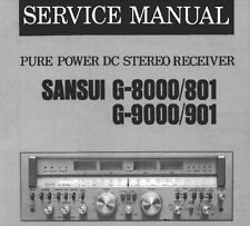 SANSUI G-801 G-901 G-8000 G-9000 Pure Power DC ST Récepteur service manual ENG