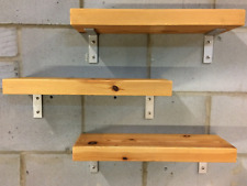 Wooden Shelf with  Stainless steel Brackets and screws bespoke