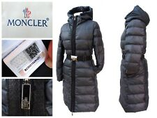 MONCLER Authentic! Ladies Grey DOWN Long PUFFER COAT Jacket Fits UK 10/12 #3791