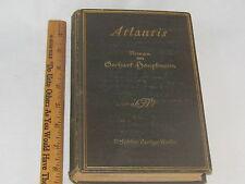 Atlantis, by Gerhart Hauptmann, 1912 first edition in formal German, Berlin