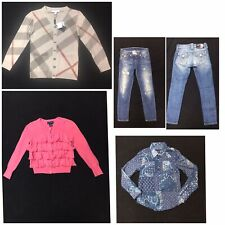 Lot Of Girls Spring Clothes Sz 8 Years Ralph Lauren Burberry True Religion 4 Pc