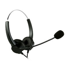 Hands-free Call Center Binaural Headset Headphone Noise Cancelling Corded + Mic
