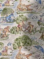 Disney Winnie The Pooh Fabric Cotton 1/4 Yard X 43 Inches