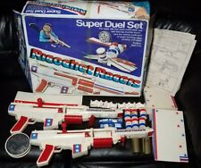 Vintage 1974 Ricochet Racers 2 Toy Car Gun Game Hasbro Super Duel Set Box Manual