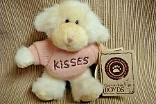 """Puckerup"" Tiny Jointed Plush Dog in Pink ""Kisses""Sweater by Boyds Bears w/Tags"
