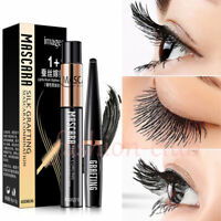 4D Silk Fiber Eyelash Mascara Extension Curl Waterproof + Lash Mascara Kit-US