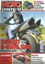 MOTO JOURNAL N°1772 SUZUKI B-KING 1300 / SUZUKI SV 1000 S / STONER SANS RIVAL
