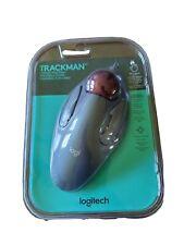Logitech Trackman Corded Trackball Mouse - 910-000806