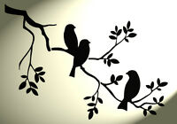 Shabby Chic Stencil 3 birds in tree A3 420x297mm Rustic Vintage style wall
