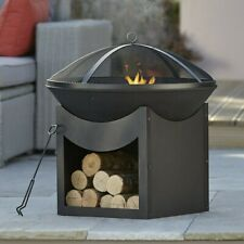 Large Cast Iron Fire Pit: Ulong (Log Burner Chimenea Patio Heater Chiminea Tall)