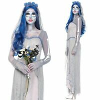 Ladies Halloween Horror Zombie Corpse Bride Dead Scary Fancy Dress Costume