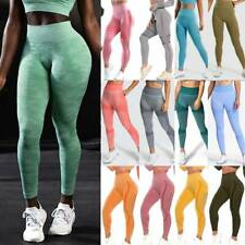 Womens Gym Seamless Fitness Leggings High Waist Exercise Sport Casual Yoga Pants
