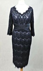 Veni Infantino Ronald Joyce Lace Dress With 3/4 Sleeve Size 16 Uk CR003 JJ 11