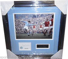 Colin Bell Manchester City SIGNED AUTOGRAPH Unique Index Card Framed AFTAL UACC