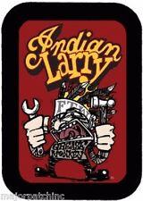 LEATHER INDIAN LARRY FTW GREASE MONKEY MOTORCYCLE VEST BIKER PATCH HARLEY SKULL