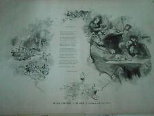 Gravure 1880 - Ce que l'on boit Le Café