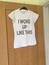 Gildan Ladies Short Sleeve White T-shirt, Size Small