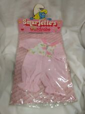 Rare Smurfette's Wardrobe Or Plush Doll Pink One Piece Pajamas 1983    NEW t1312