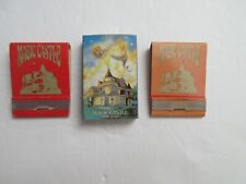 THE MAGIC CASTLE Hollywood CA. Lot Of 3 MATCHBOOKS/BOX