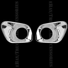 2 Chrome FRONT Fog Lamp Lower Lights Covers For 2014 2015 2016 JEEP Cherokee