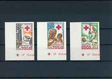 TOGO ROTES KREUZ 1959 UNGEZÄHNT RED CROSS IMPERF NOT DENTELE RARE !! h2084