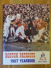 1967 BOSTON PATRIOTS Yearbook CAPPELLETTI BUONICONTI JIM NANCE PARILLII BELLINO
