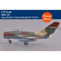 Trumpeter Easy Model 37134 1/72 Scale MiG-15 Plastic Aircraft Finished Model Kit