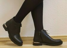 Damen -Stiefel, Stiefeletten, Boots, echtes Leder, EU 37, Schwarz, Neu/New