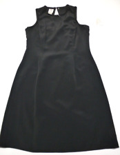 A Studio by Pat Argenti Womens Size 12 Black Beaded Trim Sleeveless Dress New