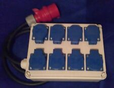 Stromverteiler,Adapter 16A auf 8xSchuko