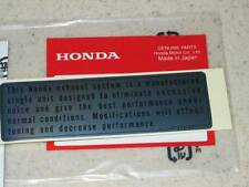 Honda Z50 SL70 CT90 S90 SL100 SL350 500 550 750 Exhaust Sticker 87504-028-670