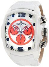 New Invicta Men's 10283 Lupah Swiss Chronograph Ceramic White Leather Watch