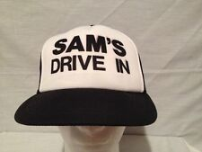 Authentic Vintage throwback 70s/80s Trucker Cap Mesh , Sam's Drive In Logo