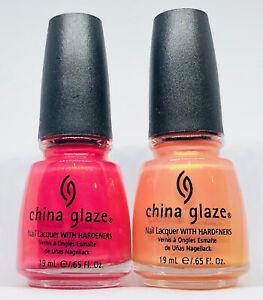 China Glaze Nail Polish FIJI FLING 560 + BARE IF YOU DARE 562 Duos
