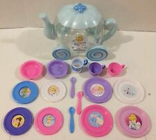 Disney Princess Cinderella Teapot Carriage Dish Set Tea Cups