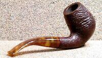 HOLMER KNUDSEN - Sandblasted Full Bent Billiard - Smoking Estate Pipe / Pfeife