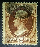 #135 1870 2c Red Brown Jackson US Postage Stamp
