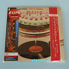 ROLLING STONES let it bleed Japon MINI LP CD incl. Poster + PROMO OBI