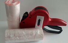 Meto P14 Price Label Gun 1 Line Box Fluro Red Labels 16000 Ink Roller