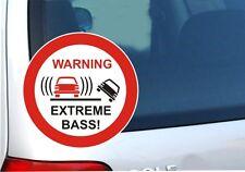Warning EXTREME BASS ! Fun Sticker Auto Aufkleber Nr. 7590