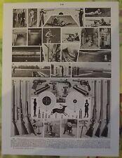 Ancienne Gravure Larousse 1950 Art Print on Original Antique Book Page Chasse